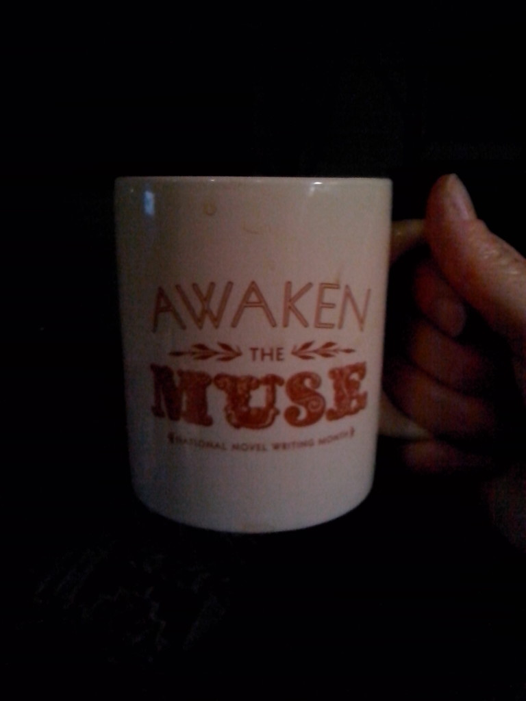 My NaNoWriMo self-awarded mug