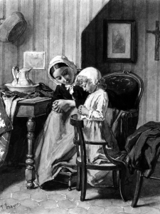 Jean-Baptiste_Jules_Trayer_-_Mother_Teaching_Daughter_Prayers_-_Walters_371297